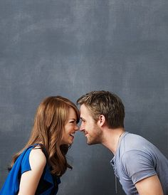 """""""She's everything, all the time. There's no one like her. Show me someone that wouldn't give it all up for Emma Stone, and I'll show you a liar."""" - Ryan Gosling on Emma Stone"""