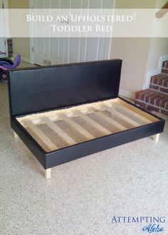 Attempting Aloha: DIY Upholstered Toddler Bed / Couch Plans