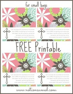 """Spring Blessings FREE printable bag topper. Bless your friends, family or neighbors with this """"sweet"""" treat!"""