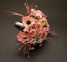 Selyemcsokor - kifinomult, romantikus esküvő RoseDreamer selyemvirág menyasszonyi csokor
