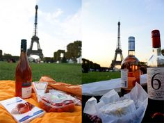 Let's Picnic in Paris...without the grog for me..but love the photo Trudes