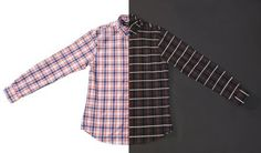 Red/Blue Reflective Plaid Button-Down (Long-Sleeve)