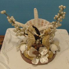Seahorse wedding cake topper....by CeShore Treasures on ETSY!