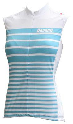 Celia is een dames wielershirt zonder mouwen in een trendy streep-design c5dd3b57f
