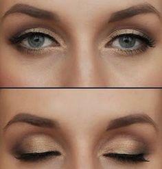 Gold-based Smokey eye
