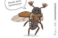 Benjaminbaeder.de ist eine tolle Seite, die einem leider nicht beim Bügeln hilft. #Bug #Käfer #Sketch #Skizze #Kafkaesk #Illustration