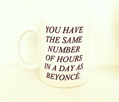 Wake up like Beyonce (#flawless) with this amazing Queen Bey mug. Check out this and other hilariously awesome star memorabilia you can purchase on Etsy! http://www.usmagazine.com/celebrity-style/news/celebrity-merchandise-on-etsy-shop-beyonce-mugs-kim-kardashian-cases-2014256