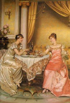 Frederic Soulacroix (french-b.1825)_Tete à tete