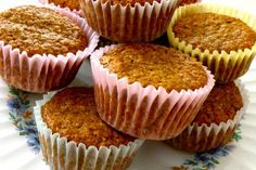 Try these fruity bran muffins for a low calorie, low fat breakfast! The applesauce, banana and raisins add just the right amount of sweetness!