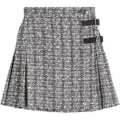 Alexander McQueen Tweed Mini Skirt (2.605 BRL) ❤ liked on Polyvore featuring skirts, mini skirts, bottoms, multicolored, multi color skirt, short skirts, multi colored skirt, belted skirts and tweed skirt