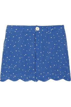 shut the front door! scalloped starry shorts