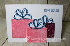 Clear Blog for Gift Box Card Video   Stamp & Scrap with Frenchie…
