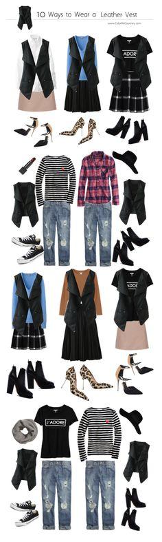 10 ways to wear a leather vest