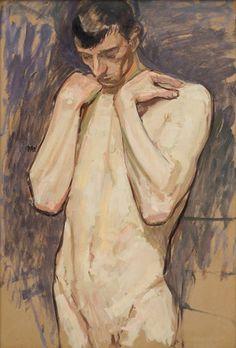 Wojciech Weiss (Polish, 1875-1950), Nude, Cracow, 1905. Oil on cardboard, 99.5 x 68.5 cm