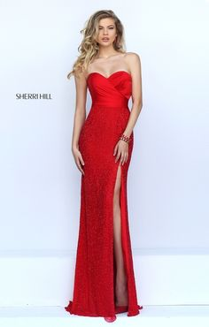 #50046 beautiful red dress by Sherri Hill