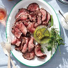 Smoked Beef Tenderloin with Hill Country Rub & Chimichurri Sauce | Southern Living