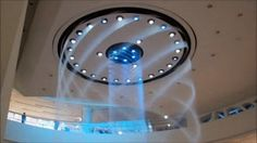 Incredible Water Fountain in South Korea that looks like Portal's Excursion Funnel!!! ARGHH #geekgasm