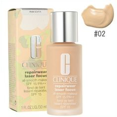 Clinique Repairwear Laser Focus All Smooth Makeup SPF 15 PA  Shade 02 FP 1oz 30ml -- For more information, visit image link.