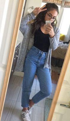 Calvin jeans black v cut tee grey cardigan fashion