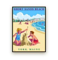 Camp Steve poster for Short Sands Beach, York, Maine York Maine, York Beach, Rv Travel, Sands, New Hampshire, Key West, Travel Posters, Wonderful Places, Getting Married