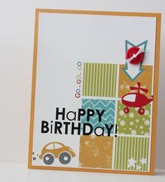 Heather Summers - fantastic birthday MDS hybrid card - also two videos I want to remember to watch