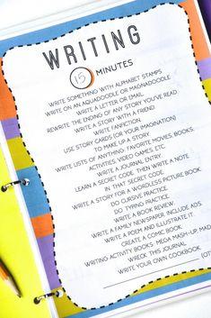 20 Summer Writing Ideas for Kids