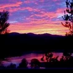 Sunset on Lake Nacimiento, California.  Have camped here many times.