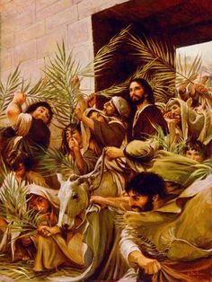 The Life and Teachings of Jesus Christ, vol. From the Transfiguration through the Triumphal Entry Images Bible, Bible Pictures, Jesus Pictures, Lds Art, Bible Art, Image Jesus, Triumphal Entry, Christian Artwork, Jesus Christus