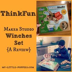 ThinkFun Maker Studio Winches Set Review:  Moms, does your family love activities that work your brain? Are you looking for an educational game that encourages STEM, design, and creativity? Look no further!