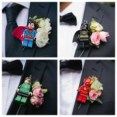 Finally did it! Thanks to Pinterest we(my wife and I) did the DC wedding boutonniere that I really wanted. Really stoked with the results. Thanks to Vida Flores - http://www.vidaflores.co.nz for being able to put these little creations together!! #superman #batman #greenlantern #flash #DC