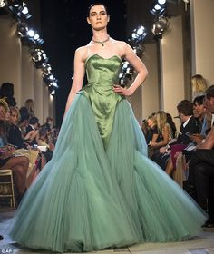 1e69754e84 My jaw is touching the floor .. Little mermaid  This green gown with a