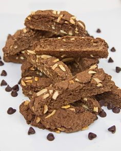 Chocolate Biscotti with Toasted Almonds