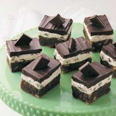 Irish Mint Brownies Recipe from Taste of Home -- shared by Lori Risdal of Sioux City, Iowa