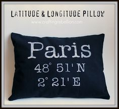 DIY Latitude & Longitude Pillow