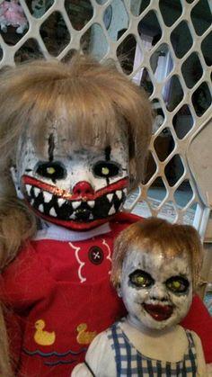 CLEARANCE Creepy OOAK horror altered art by ShellysScaryDollys