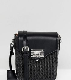 Glamorous Boxy Cross Body Bag With Woven Detail
