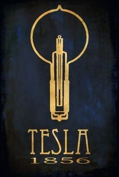 Tesla // rock star scientist posters // meganlee at etsy