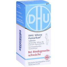 DHU Silicea Pentarkan für das Bindegewebe Tabletten:   Packungsinhalt: 80 St Tabletten PZN: 11523876 Hersteller: DHU-Arzneimittel GmbH &…