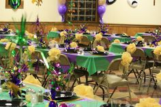 Mardi Gras Party chairs