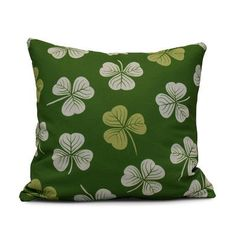 """The Holiday Aisle Funky Junky Lucky Throw Pillow Color: Dark Green, Size: 20"""" H x 20"""" W"""