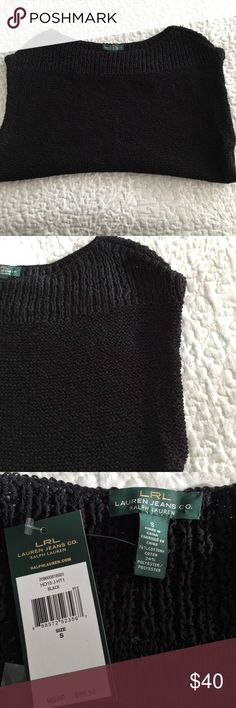 """NWT - LRL - Ralph Lauren sleeveless sweater NWT - Pair with jeans for a casual look or with a skirt for office attire.  Approximate measurements (flat): bust: 20"""", bottom: 17 1/2"""", length: 22 1/2"""", armhole opening: 8"""" Lauren Ralph Lauren Sweaters"""