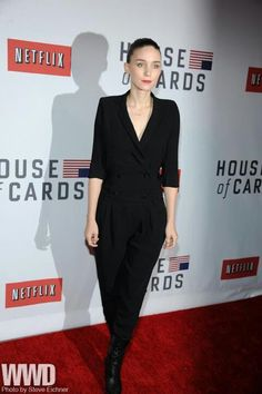 Rooney Mara in Band of Outsiders jumpsuit.