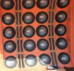 Wall of Bass with RoadThunder #subwoofers. #mtxaudio