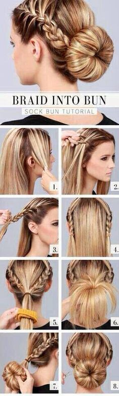 Step by step hairstyle<3