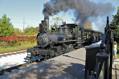 Greenfield Village in Dearborn not only offers train rides but has a real working roundhouse. Dearborn Michigan, State Of Michigan, Detroit Michigan, Train Tracks, Train Rides, Vacation Travel, Vacation Trips, Detroit Rock City, Henry Ford Museum