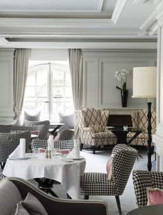 Location: 1 Place Vendome Restaurant, Paris (Hotel de Vendome) Interior Designer: Michele Bonan