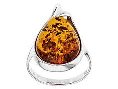 Meet your new favorite Orange Polish Amber Sterling Silver Ring! Amber Ring, Amber Jewelry, Diamond Jewelry, Sterling Silver Rings, Jewlery, Polish, Bling, Gemstones, Orange