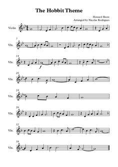 Die Hobbit-Geige von Nicolas Rodrigues via Slideshare - Music - Melodie Piano Y Violin, Violin Music, Piano Songs, Sheet Music Direct, Digital Sheet Music, Clarinet Sheet Music, Piano Sheet Music, Partition Piano, O Hobbit