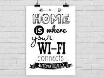 "Kunstdruck ""Home Wi-Fi"" A4 / A3"