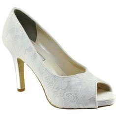 LADIES WOMENS TOUCH UPS BRAND NEW CATALINA WHITE LACE DYEABLE WEDDING SHOES UK 3-9 Shoe bliss, http://www.amazon.co.uk/dp/B00AJKE81S/ref=cm_sw_r_pi_dp_kLSxtb1RZF7PP